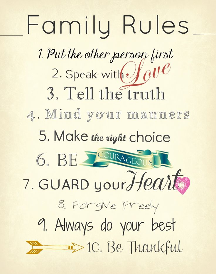 10-family-rules-to-keep-in-mind