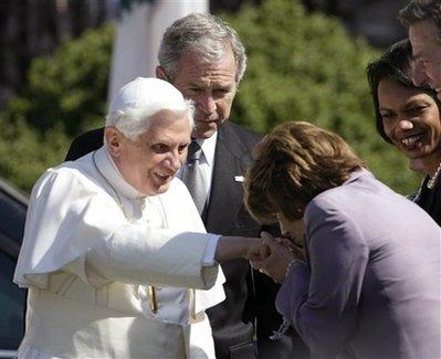 George W. Bush, Pope Benedict XVI, Nancy Pelsoi, Condoleezza Rice
