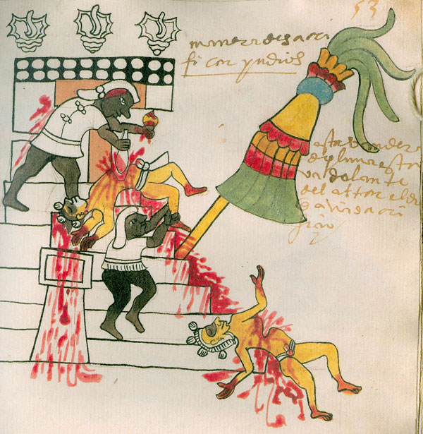 This image has an empty alt attribute; its file name is aztec-human-sacrifice-codex-tudela.jpg