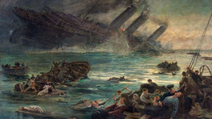 the-sinking-of-the-lusitania-painting-brecknock-museum-and-art-gallery-16x9-1